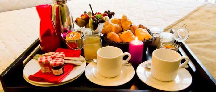 plateau petit déjeuner Plateau en chambre